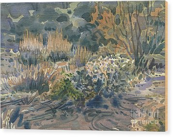 High Desert Flora Wood Print