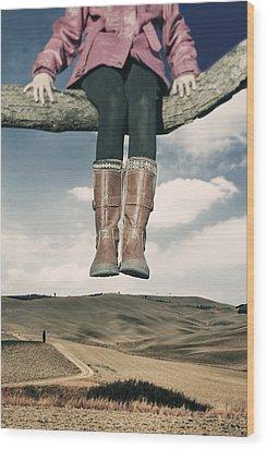 High Over The World Wood Print by Joana Kruse