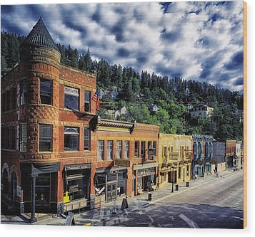 Historic Deadwood Wood Print by Mountain Dreams