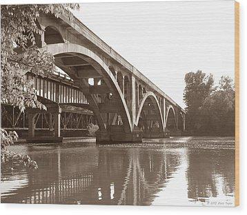 Historic Wil-cox Bridge Wood Print by Matt Taylor