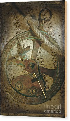 Historical Navigation Wood Print by Bernard Jaubert