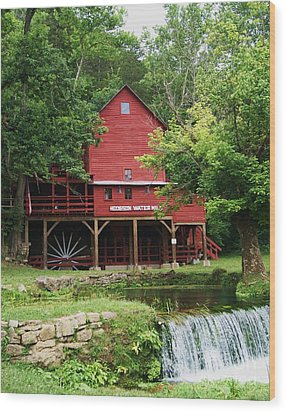 Wood Print featuring the photograph Hodgson Water Mill And Spring by Julie Clements