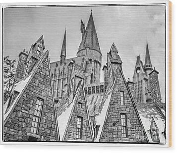 Postcard From Hogsmeade Wood Print by Edward Fielding