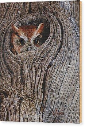 Hollowed Home Wood Print