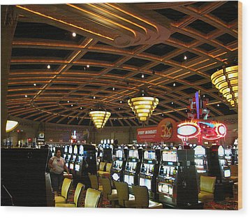 Hollywood Casino At Charles Town Races - 12127 Wood Print by DC Photographer