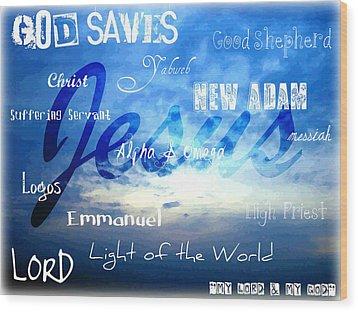 Holy Name Of Jesus Wood Print by Sharon Soberon