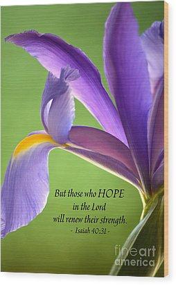 Hope Wood Print by Deb Halloran