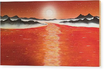 Wood Print featuring the painting Horizon by Michael Rucker