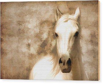 Horse Whisper Wood Print by Athena Mckinzie