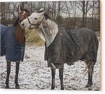Horse Whispers Wood Print