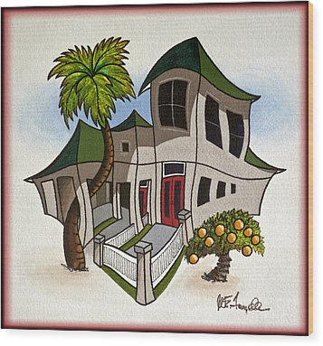 House Caricatures For Sale Wood Print by Walt Foegelle