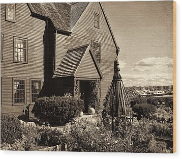 House Of The Seven Gables Wood Print by Lourry Legarde