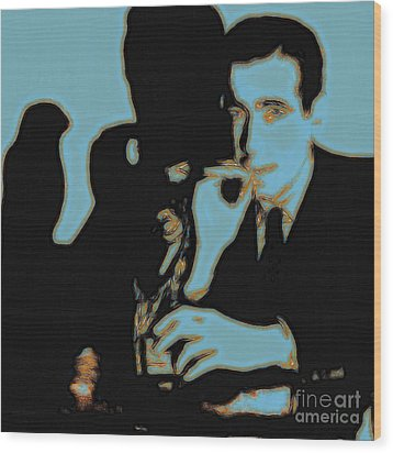Humphrey Bogart And The Maltese Falcon 20130323m88 Square Wood Print by Wingsdomain Art and Photography