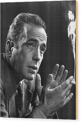 Humphrey Bogart Portrait 2 Karsh Photo Circa 1954-2014 Wood Print by David Lee Guss