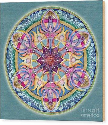 I Am Enough Mandala Wood Print by Jo Thomas Blaine