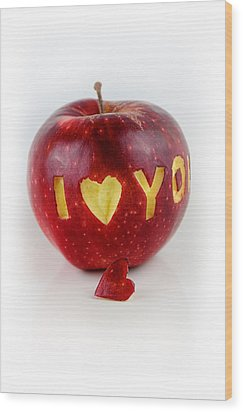 I Love You Wood Print by Gynt