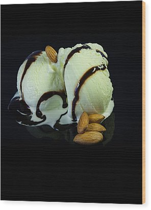 Ice Cream Cup Wood Print by Modern Art Prints