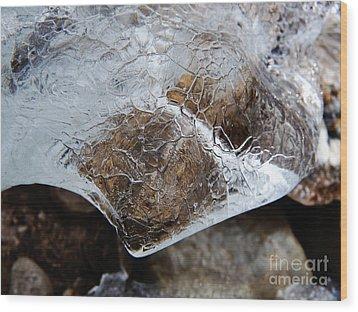 Ice Wood Print by Fabian Roessler