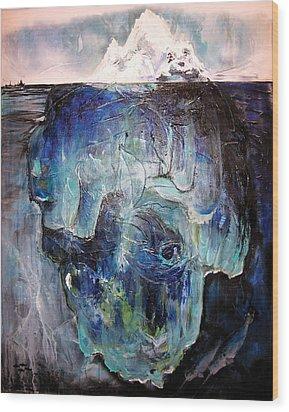 Iceberg Wood Print by Tanya Kimberly Orme
