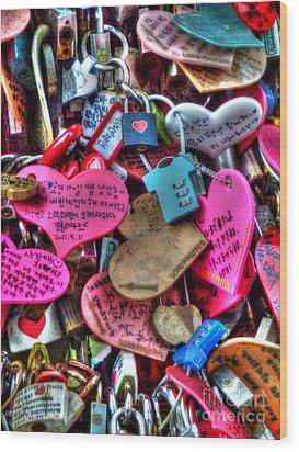 If You Love It Lock It  Wood Print by Michael Garyet