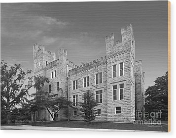 Illinois State University Cook Hall Wood Print by University Icons