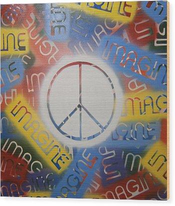 Imagine Peace Wood Print by Drew Shourd