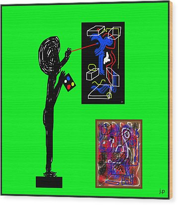 In His Elements Wood Print by Sir Josef - Social Critic - ART