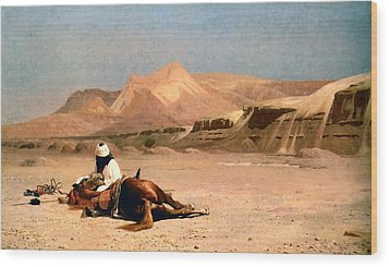 In The Desert Wood Print by Jean-Leon Gerome