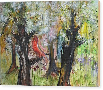 In The Woods Wood Print by Evelina Popilian