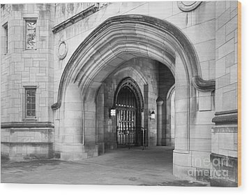 Indiana University Memorial Hall Wood Print by University Icons