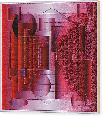 Infinity Wood Print by Iris Gelbart