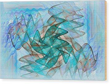 Infrasonic Wood Print by Tracy Mewmaw