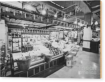 inside lonsdale quay market shopping mall north Vancouver BC Canada Wood Print by Joe Fox