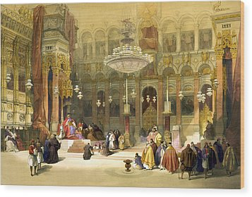 Inside The Church Of The Holy Sepulchre Wood Print by Munir Alawi
