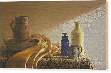 Inspired By Vermeer Wood Print by Barbara Groff