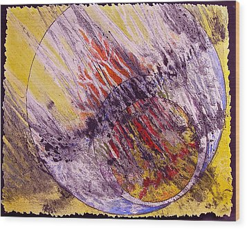 Intersecting With Nature Wood Print by Carolyn Rosenberger