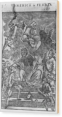 Intolerable Acts 1774 Wood Print by Granger