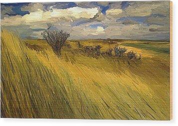 Iowa Prairie Grasses  Wood Print