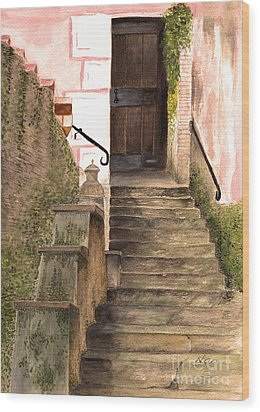 Italian Doorway Wood Print by Nan Wright