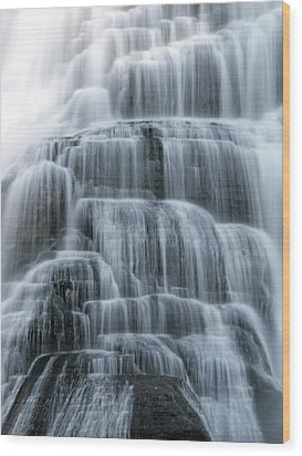 Ithaca Water Falls New York Panoramic Photography Wood Print by Paul Ge