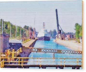 Jacknife Bridge 2 Wood Print