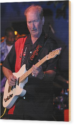 James Burton Wood Print by Don Olea