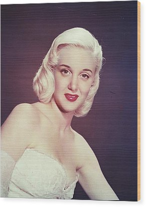 Jan Sterling Wood Print by Silver Screen