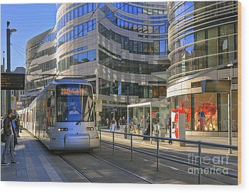 Jan Wellem Platz Duesseldorf Wood Print by David Davies
