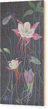 Japanese Flowers Wood Print
