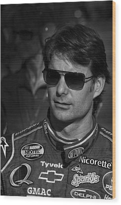 jeff Gordon Wood Print by Kevin Cable