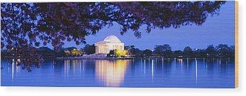 Jefferson Memorial, Washington Dc Wood Print by Panoramic Images