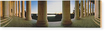Jefferson Memorial Washington Dc Usa Wood Print by Panoramic Images