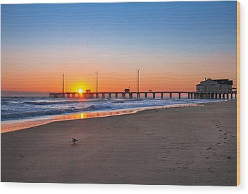 Jennettes Pier Wood Print by Mary Almond
