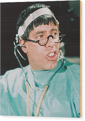 Jerry Lewis In The Disorderly Orderly Wood Print by Silver Screen
